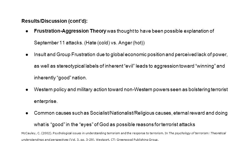 psychological theories of terrorism