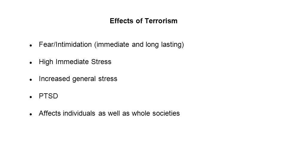 consequences of terrorism on society