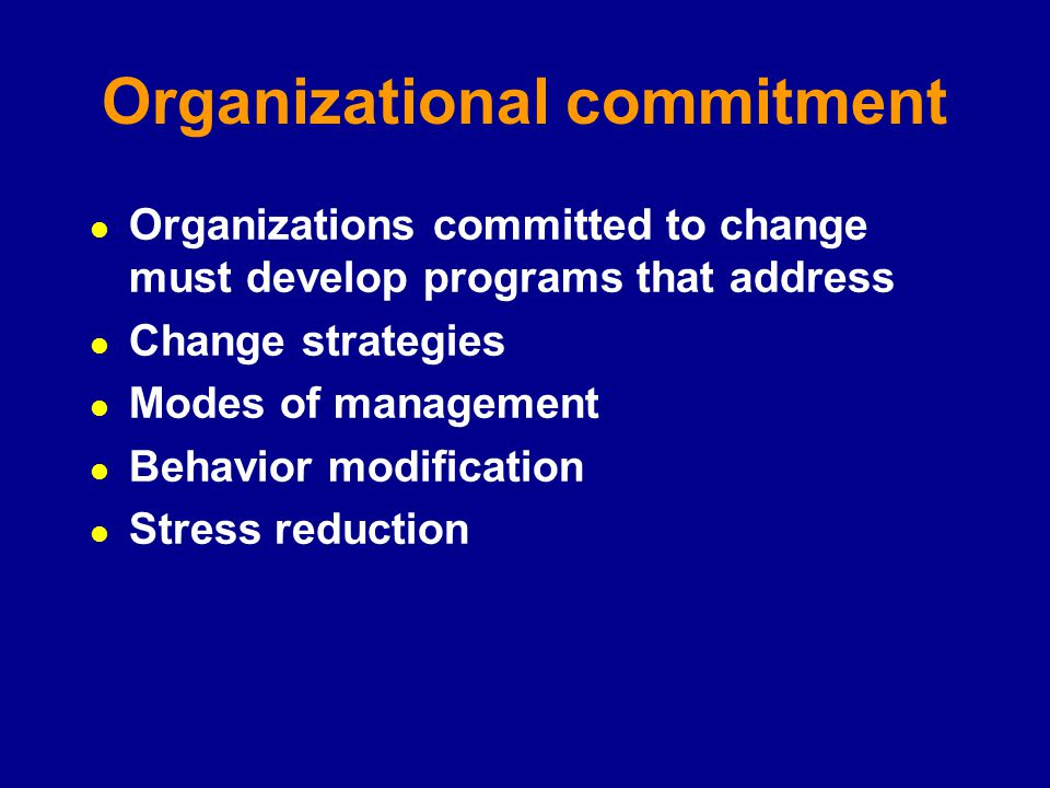 organisational commitment thesis The influence of organisational culture, subculture, leadership style and job  antecedents of organisational commitment,  thesis is to examine the.