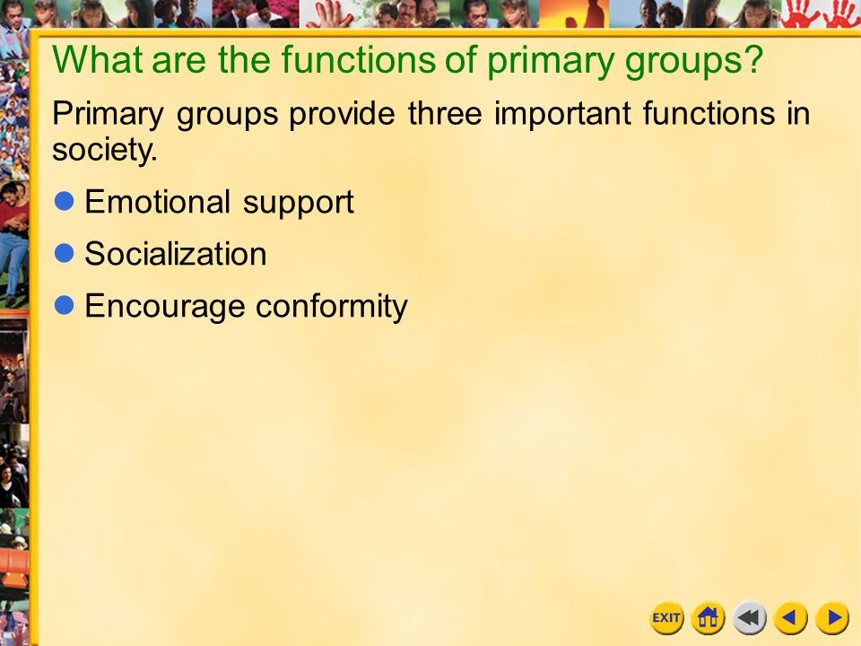 primary and secondary groups in society