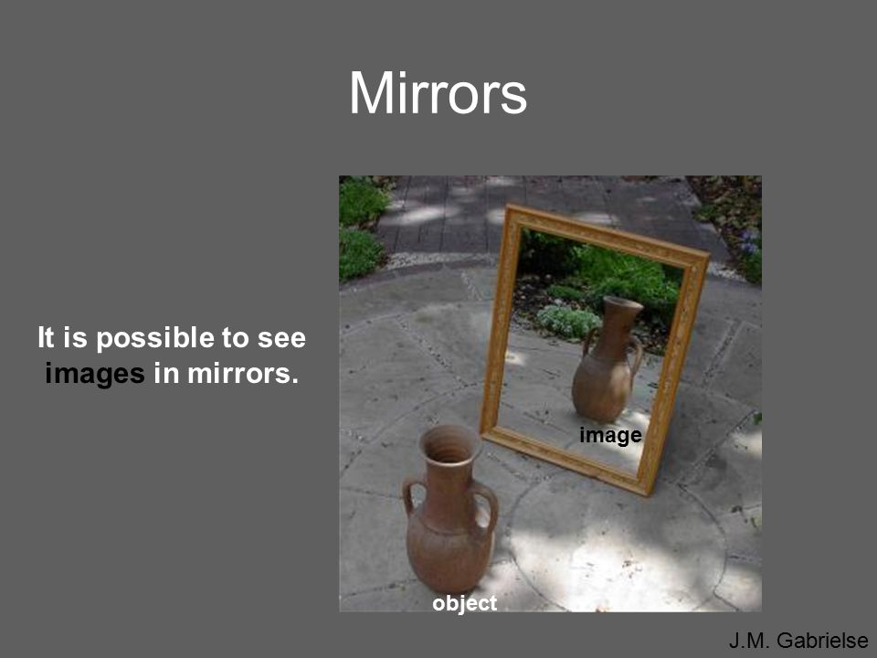 It is possible to see images in mirrors.