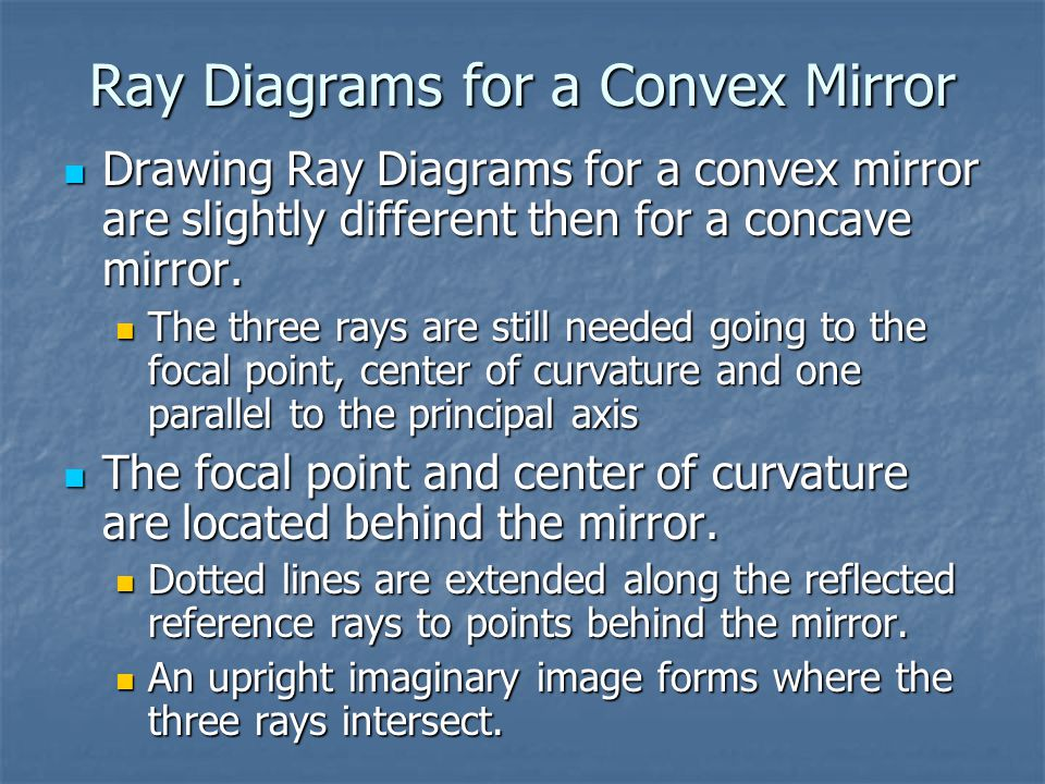 Ray Diagrams for a Convex Mirror