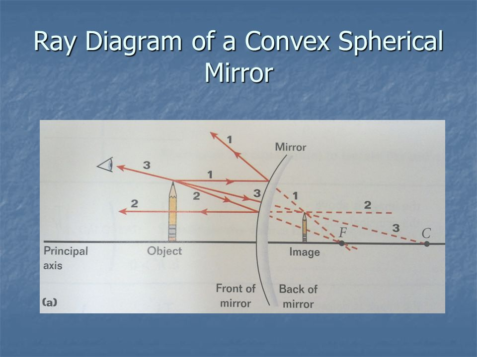 Ray Diagram of a Convex Spherical Mirror