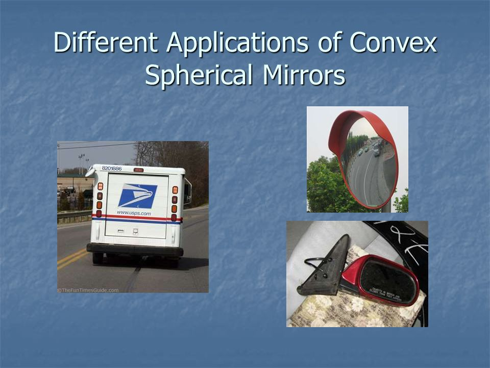 Different Applications of Convex Spherical Mirrors