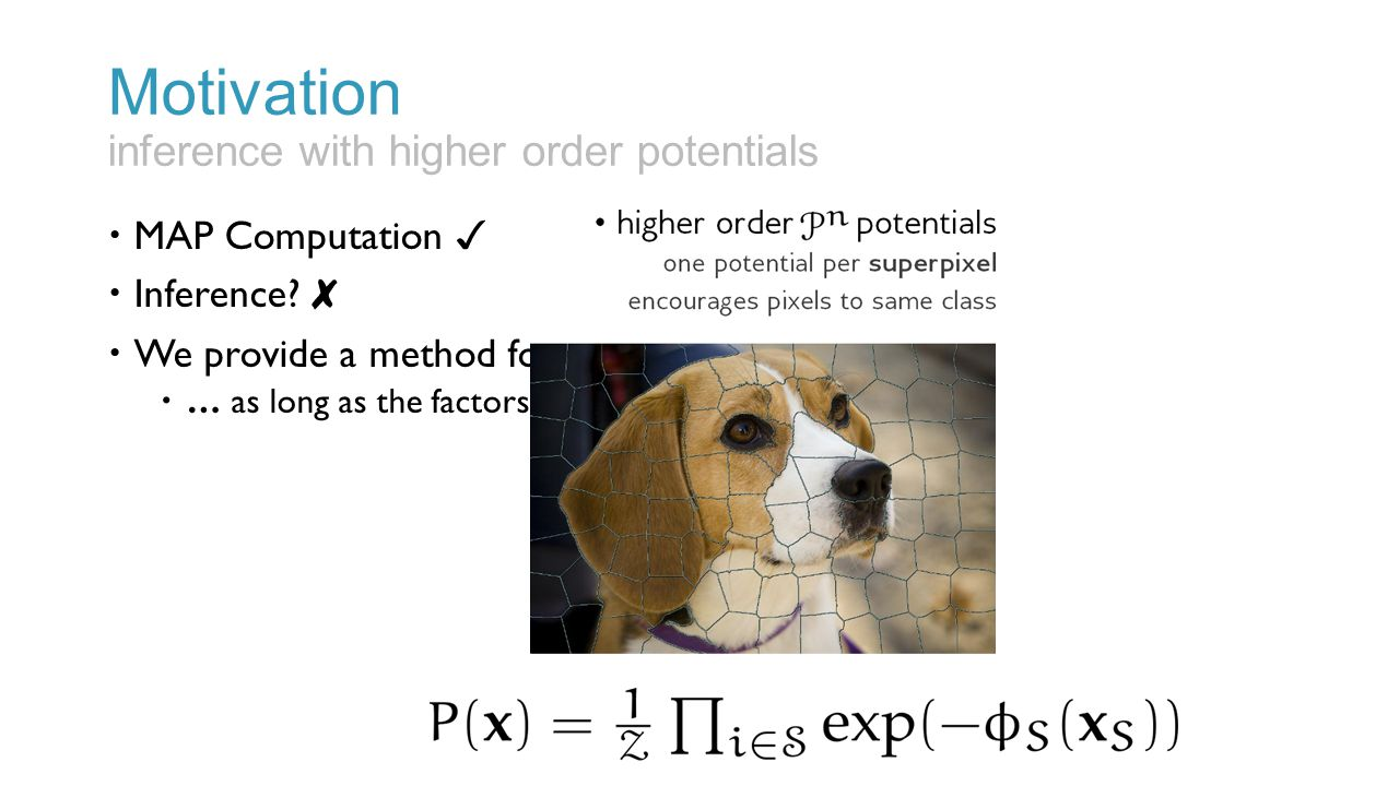 Motivation inference with higher order potentials