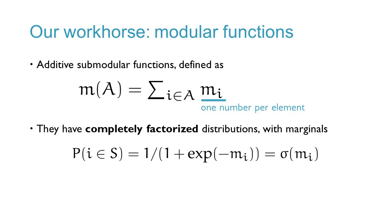Our workhorse: modular functions
