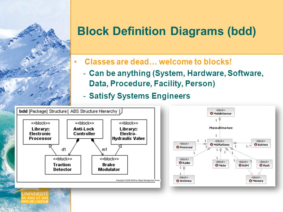From sysml to uml does sysml improve software components design in a 35 block definition ccuart Choice Image