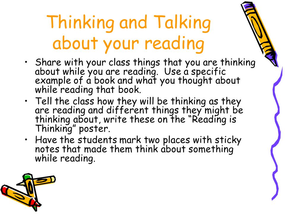 Thinking and Talking about your reading