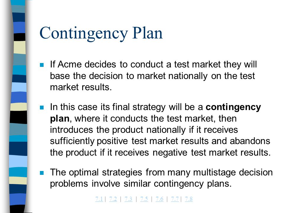 8 Contingency Plan