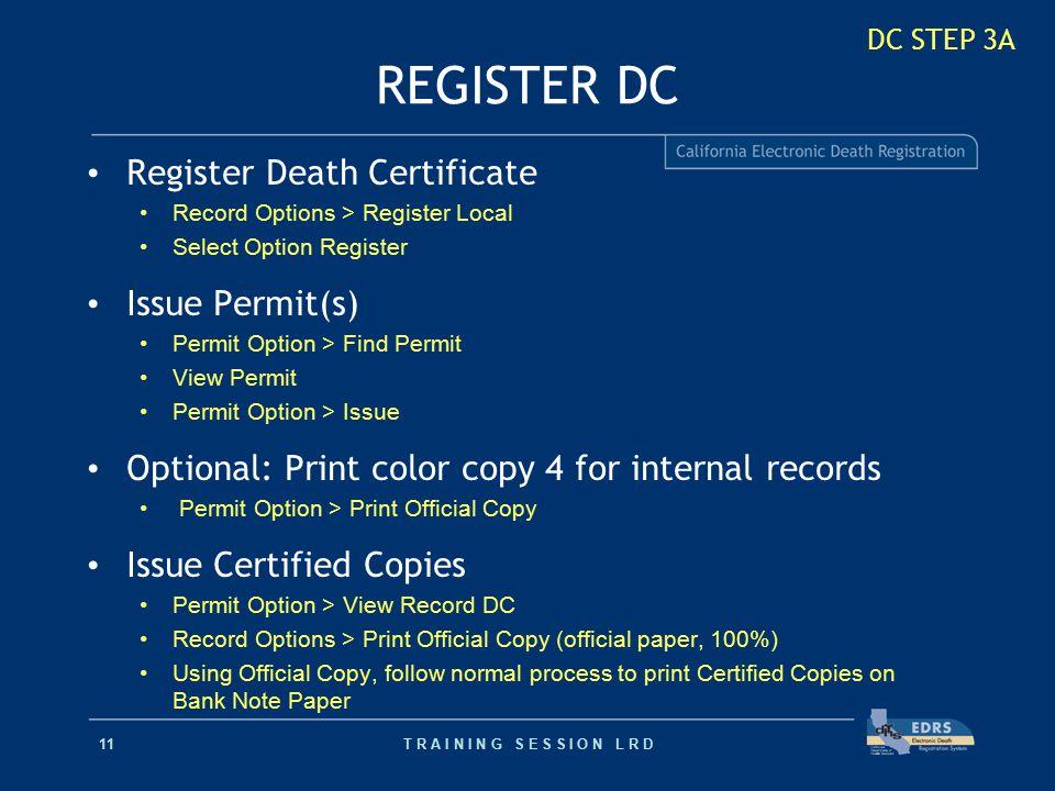 Electronic Death Registration Ppt Video Online Download