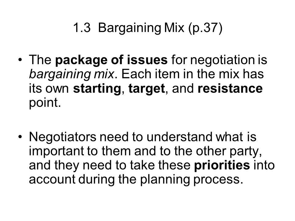 bargaining mix View essay - ba 303 the bargaining mix from ba 303 at grantham university ba303 business negotiations 1 the bargaining mix luis e amaya grantham university 18 october 2016 ba303 business.
