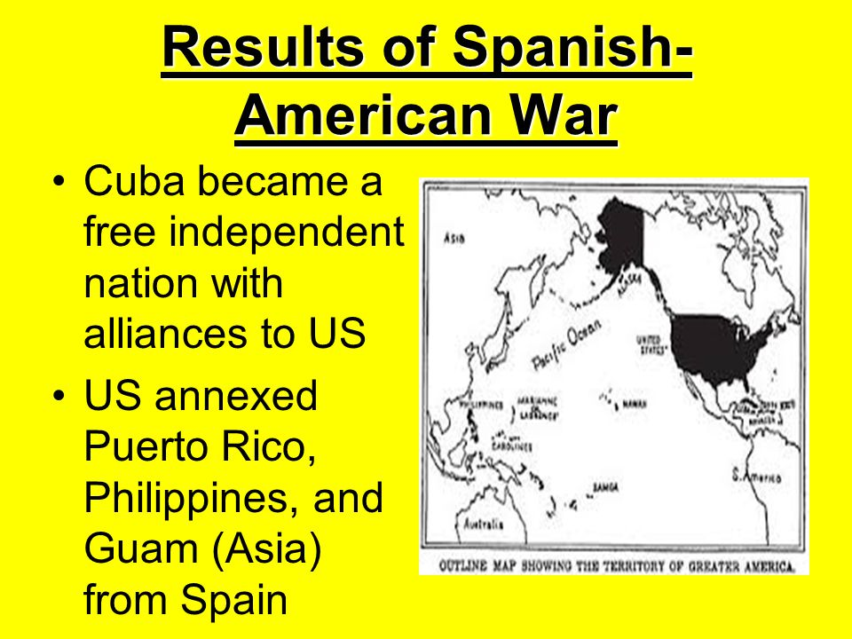 Results of Spanish-American War