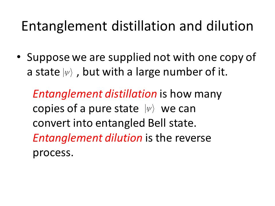 Entanglement distillation and dilution