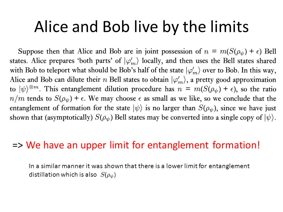 Alice and Bob live by the limits