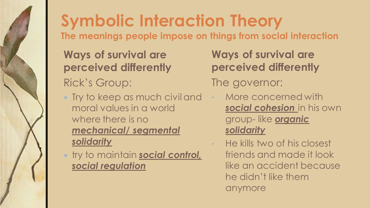 symbolic interactionism and dialects theory Start studying communication theories and their authors learn vocabulary, terms, and more with flashcards, games, and other study tools.