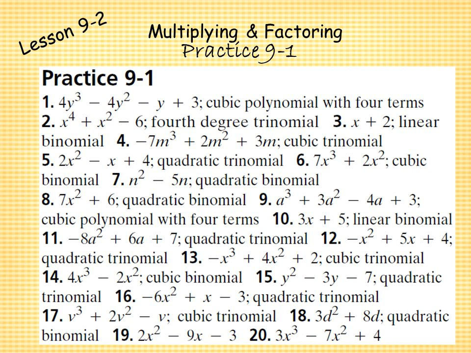 Polynomials and Factoring - ppt video online download