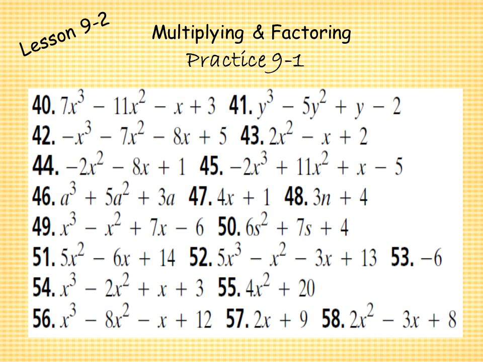 Practice 9 1 Adding And Subtracting Polynomials Worksheet Answers