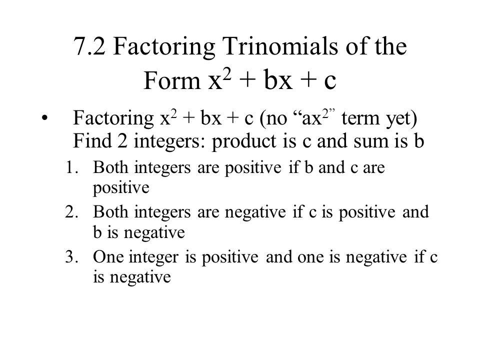 Factoring x2bxc worksheet answers
