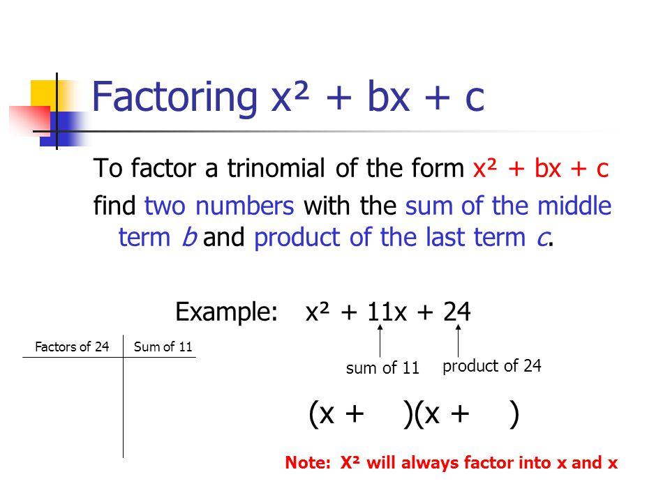 2 Factoring