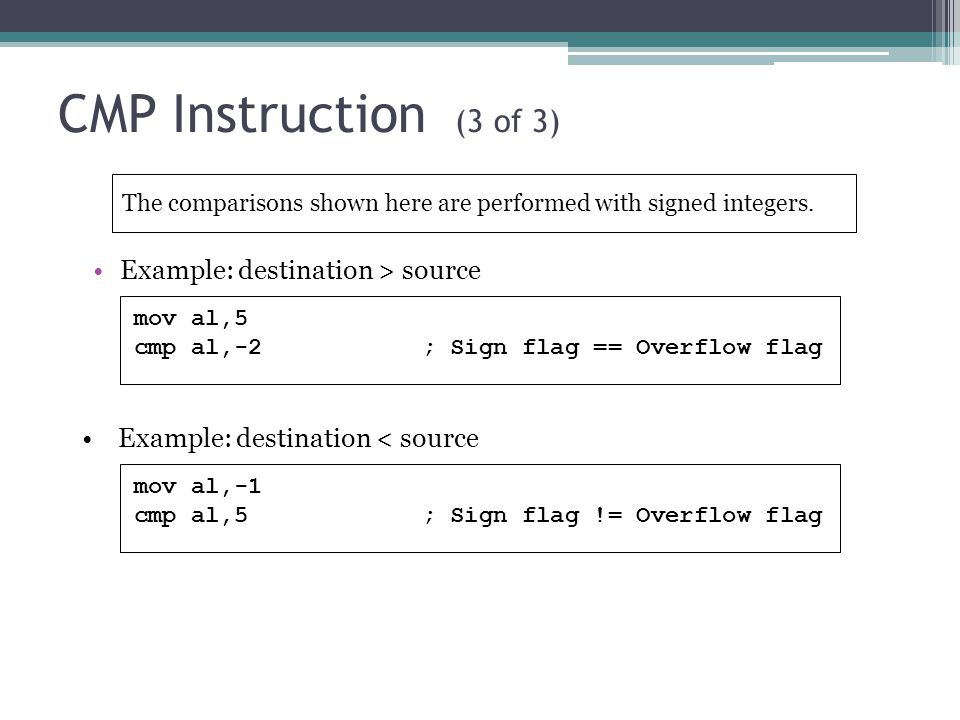 Assembly Language Csc 225 Lec4 Flag Register And Conditional