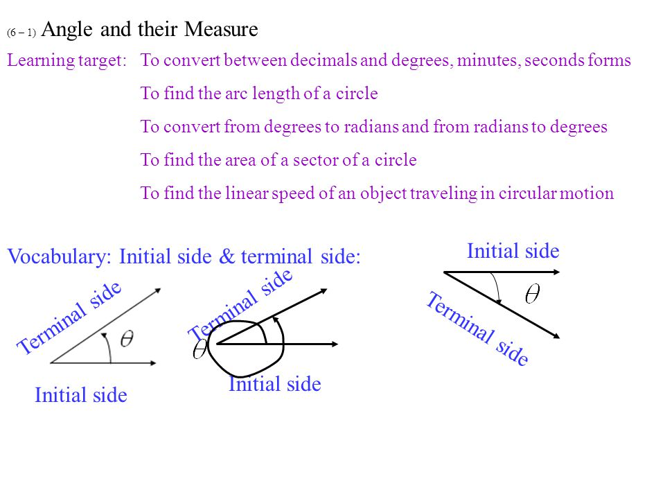 how to find the area of a sector using radians