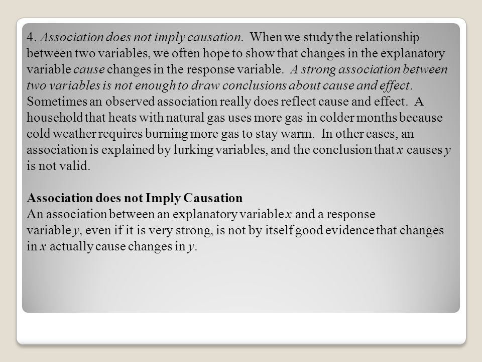 4. Association does not imply causation