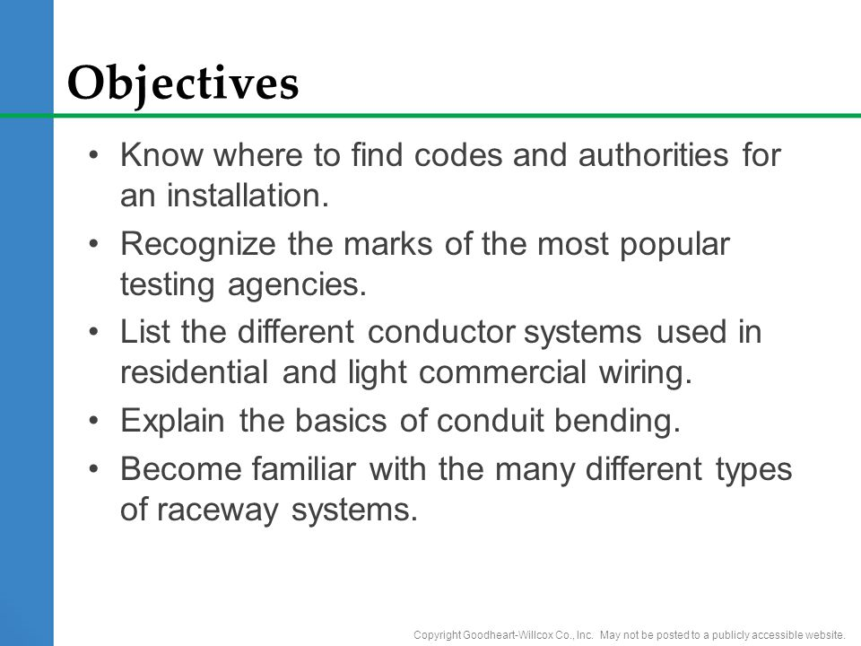 4 Wiring Systems. 4 Wiring Systems Objectives Know where to find ...