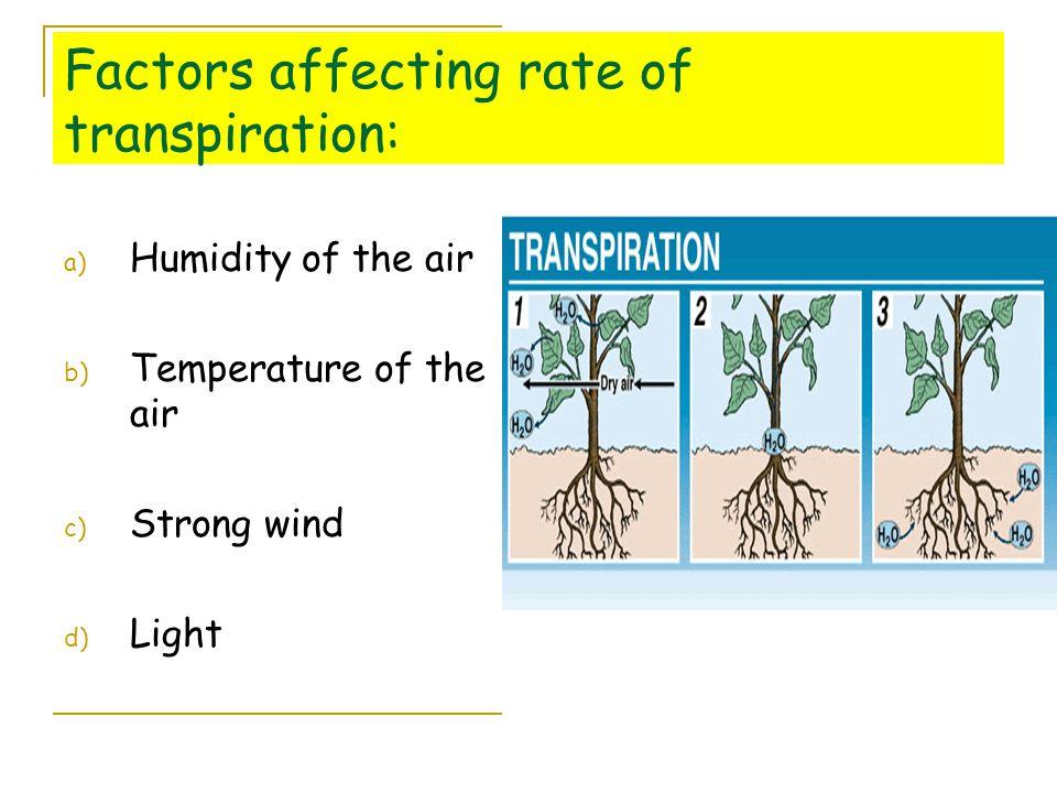 factors of transpiration