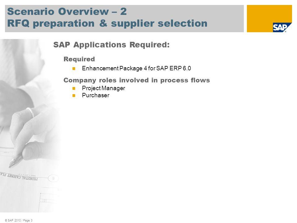 Scenario Overview 1 Rfq Preparation Supplier Selection Ppt