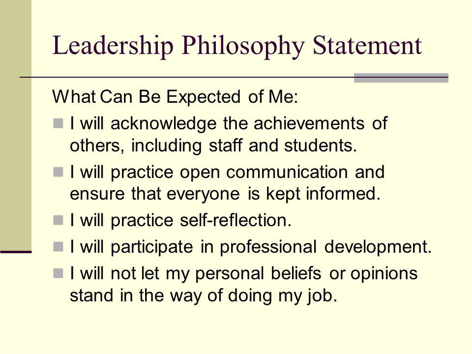Leadership Philosophy Ppt Video Online Download