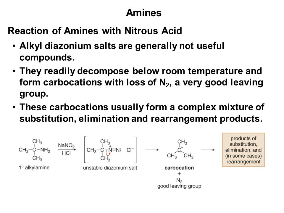 Nitrous Acid And Amine Reaction At Room Temperature
