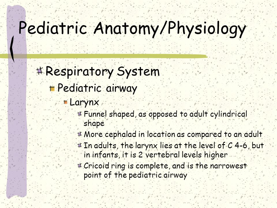 Pediatric Anatomy and Physiology - ppt video online download