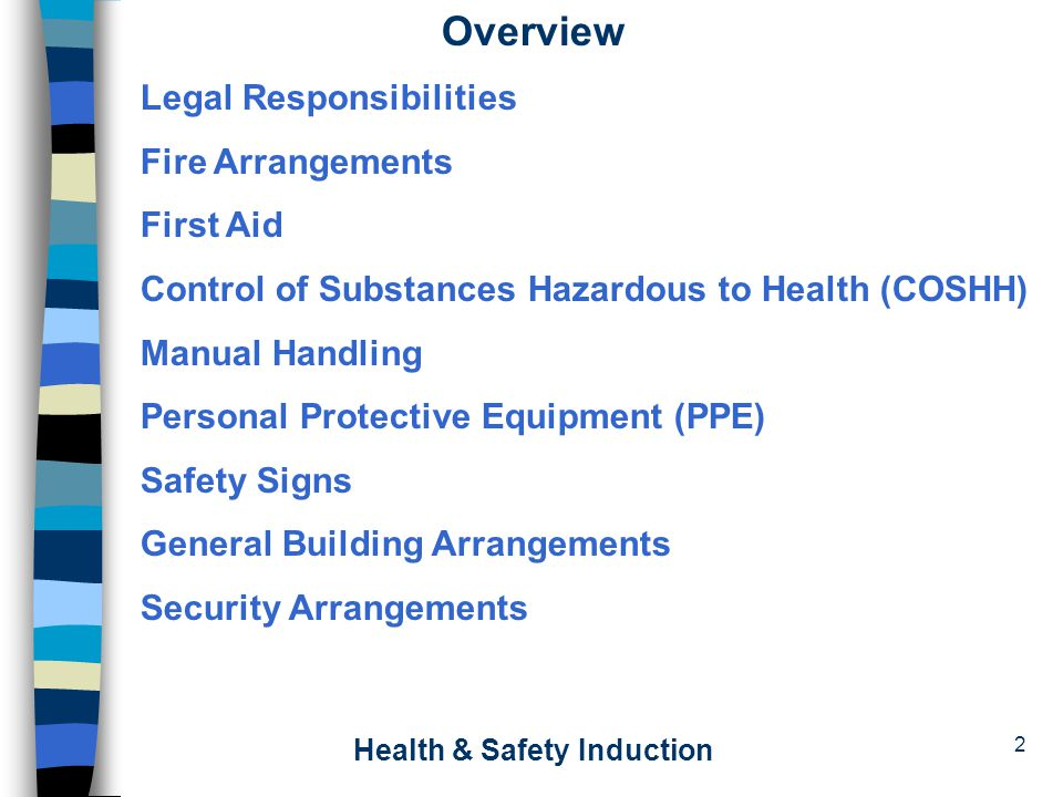 health safety induction ppt video online download rh slideplayer com Foster Care Manual Senior Care Manuals