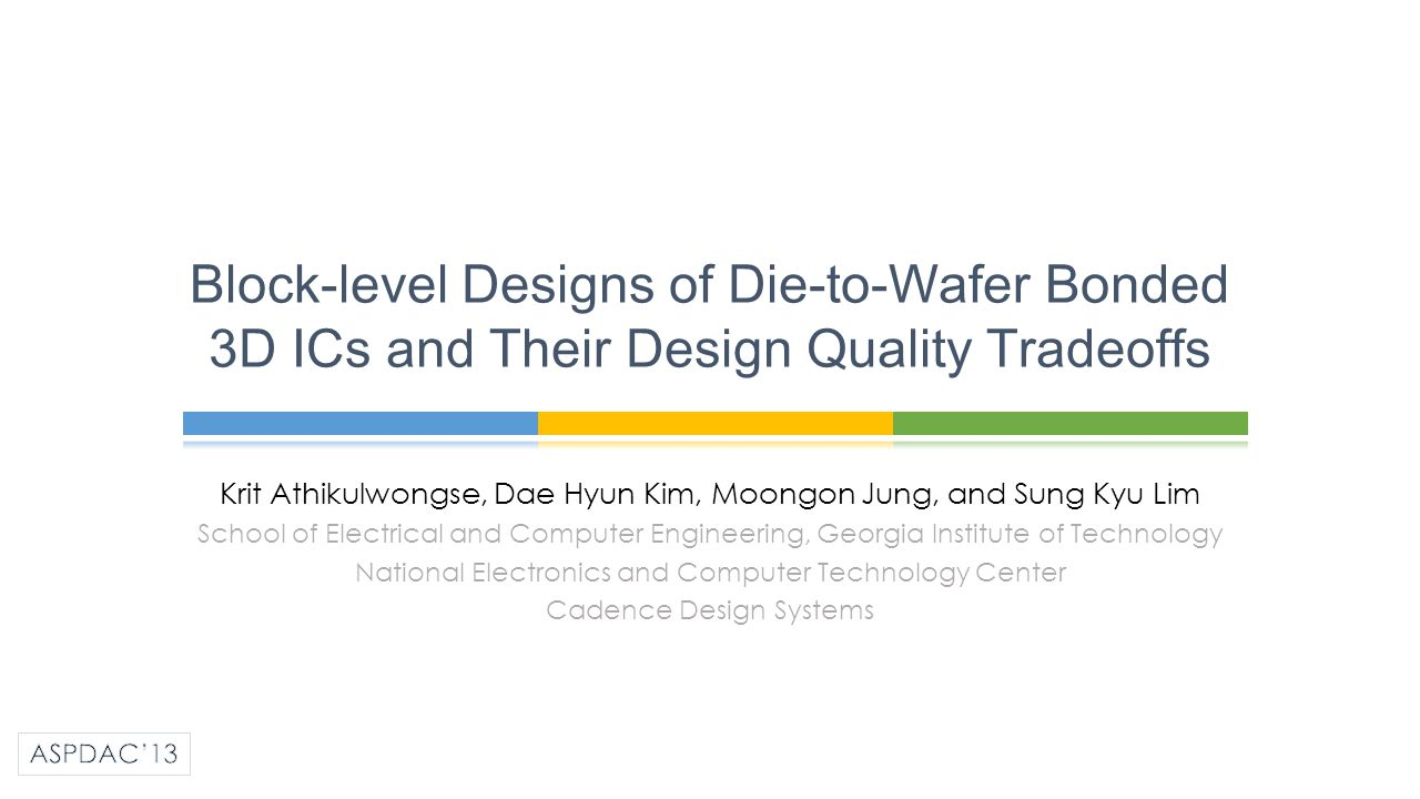 Block-level Designs of Die-to-Wafer Bonded 3D ICs and Their Design Quality Tradeoffs