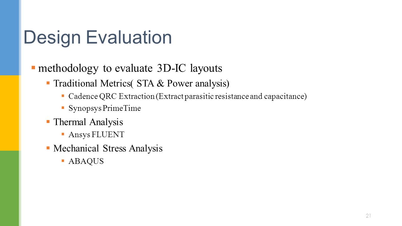 Design Evaluation methodology to evaluate 3D-IC layouts