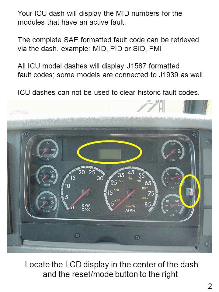 J1587/J1708 Fault Codes for Conventional/FS65 Saf-T-Liner C2 - ppt