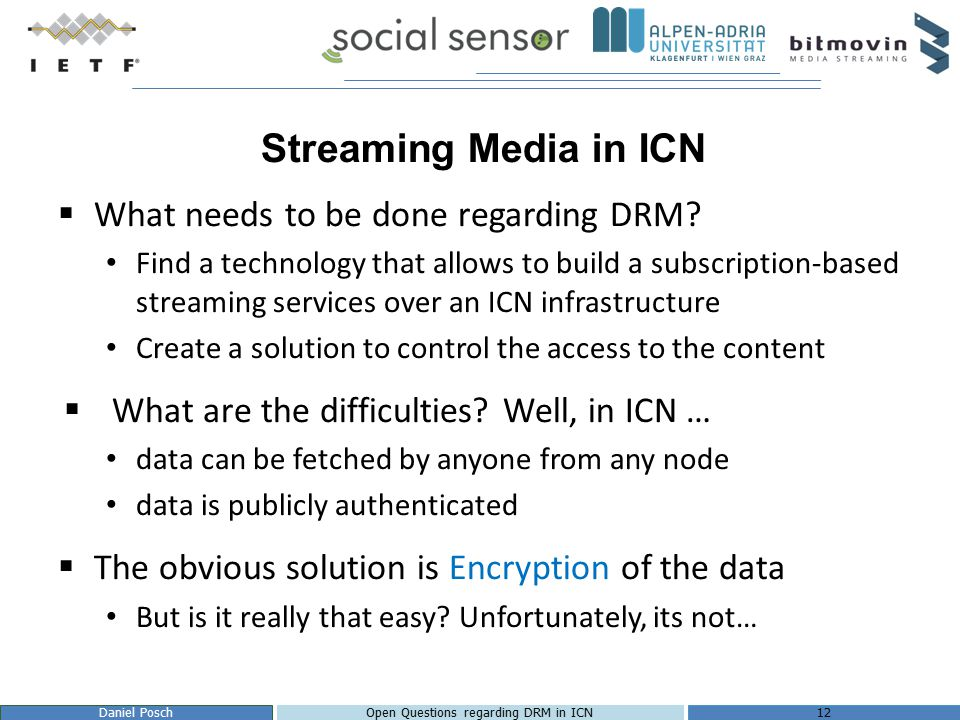 Adaptive Video Streaming over ICN - ppt video online download