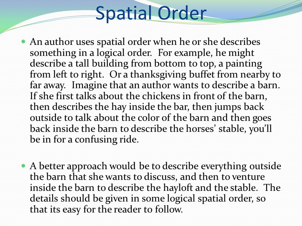 Spatial essay