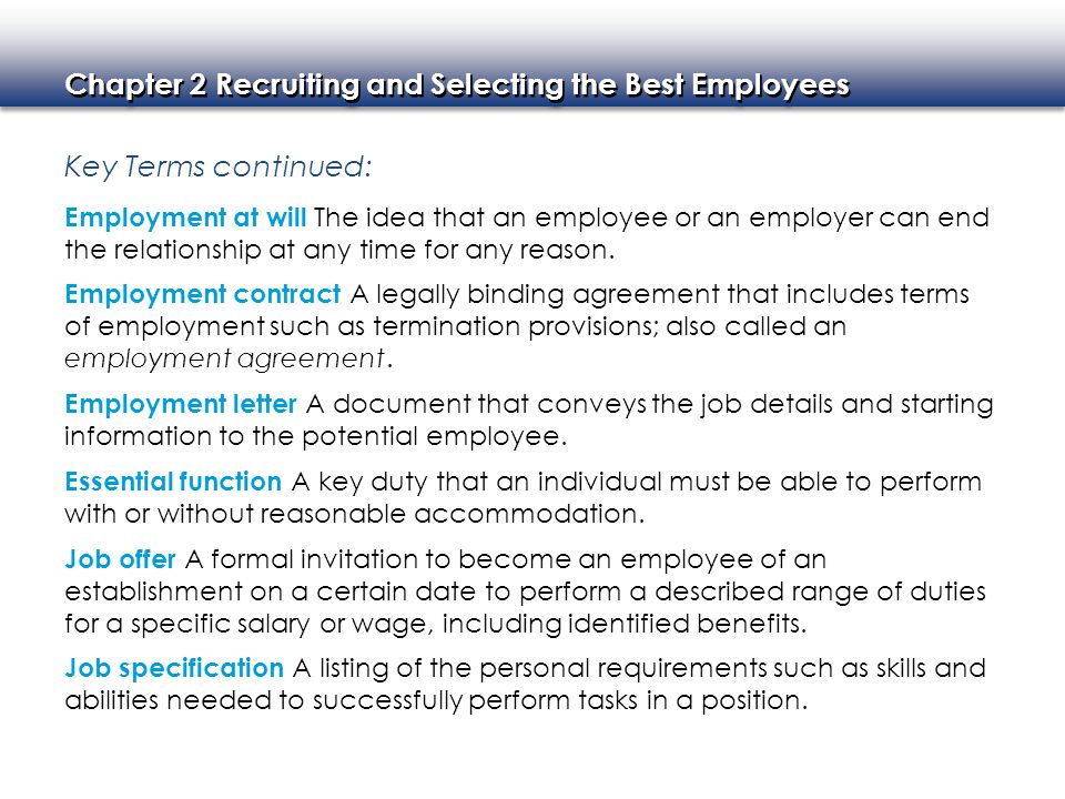 Recruiting and Selecting the Best Employees - ppt video