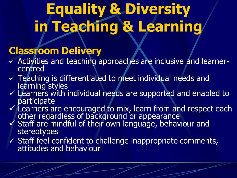 Equality & Diversity in Teaching & Learning - ppt download