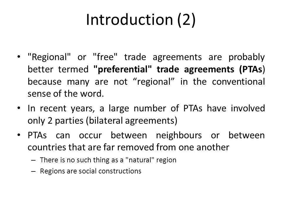 Regional Trade Agreements Ppt Video Online Download