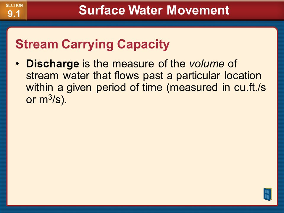 Stream Carrying Capacity
