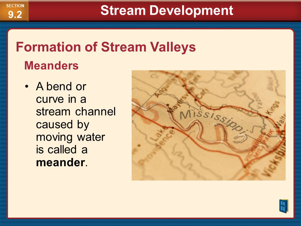 Formation of Stream Valleys