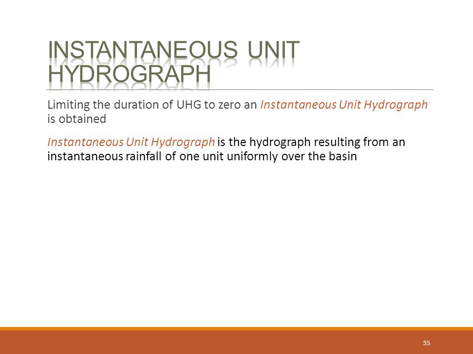 Instantaneous Unit Hydrograph