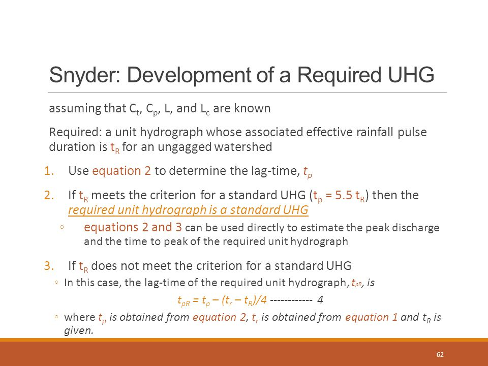 Snyder: Development of a Required UHG