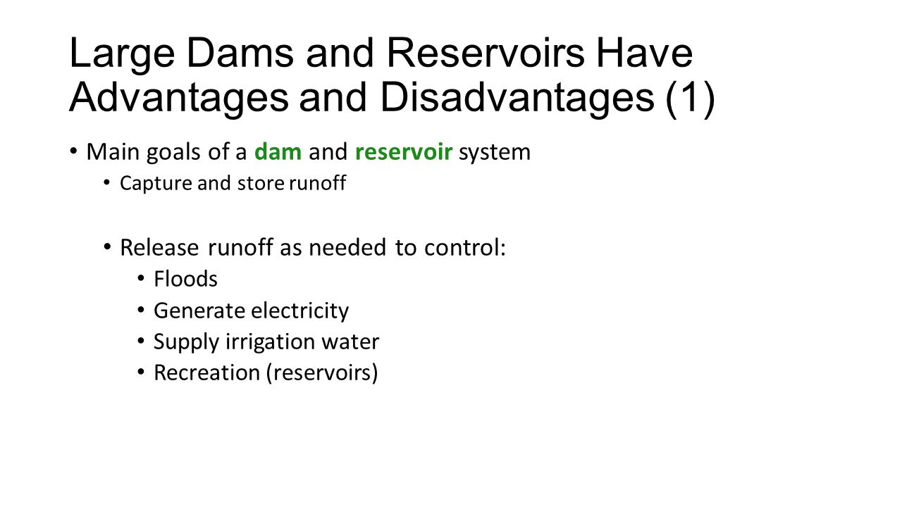 disadvantages of dams The advantages and disadvantages of hydropower are clear it takes proper planning discipline and often high cost to create a well running system but the advantages will have a more positive benefit in the long run.