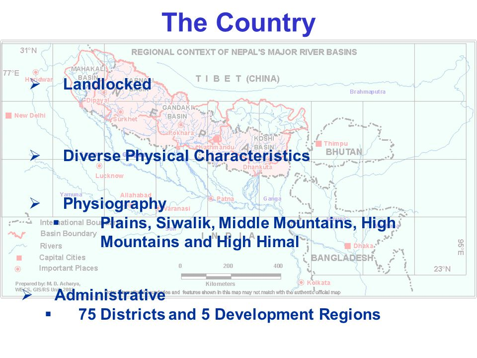 The Country Landlocked Diverse Physical Characteristics Physiography