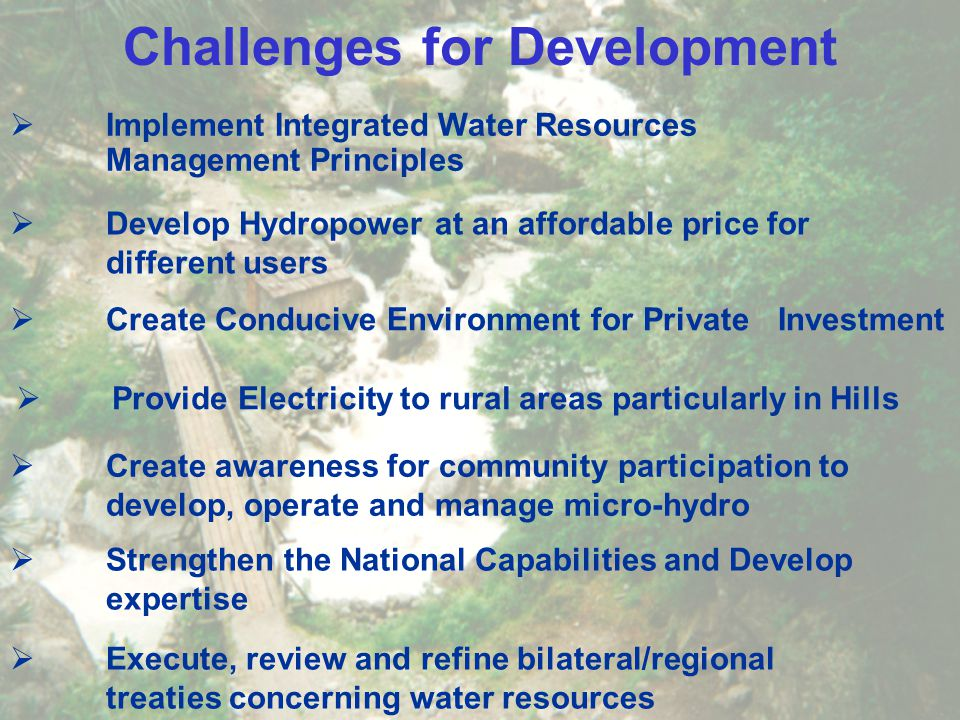 Challenges for Development