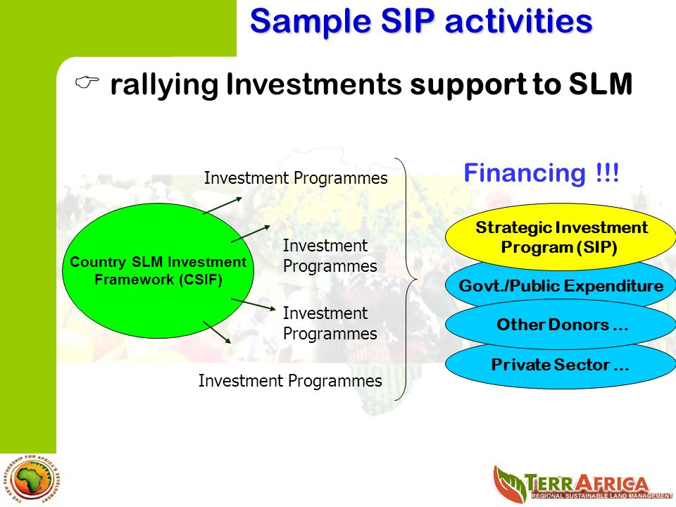 Country SLM Investment Govt./Public Expenditure
