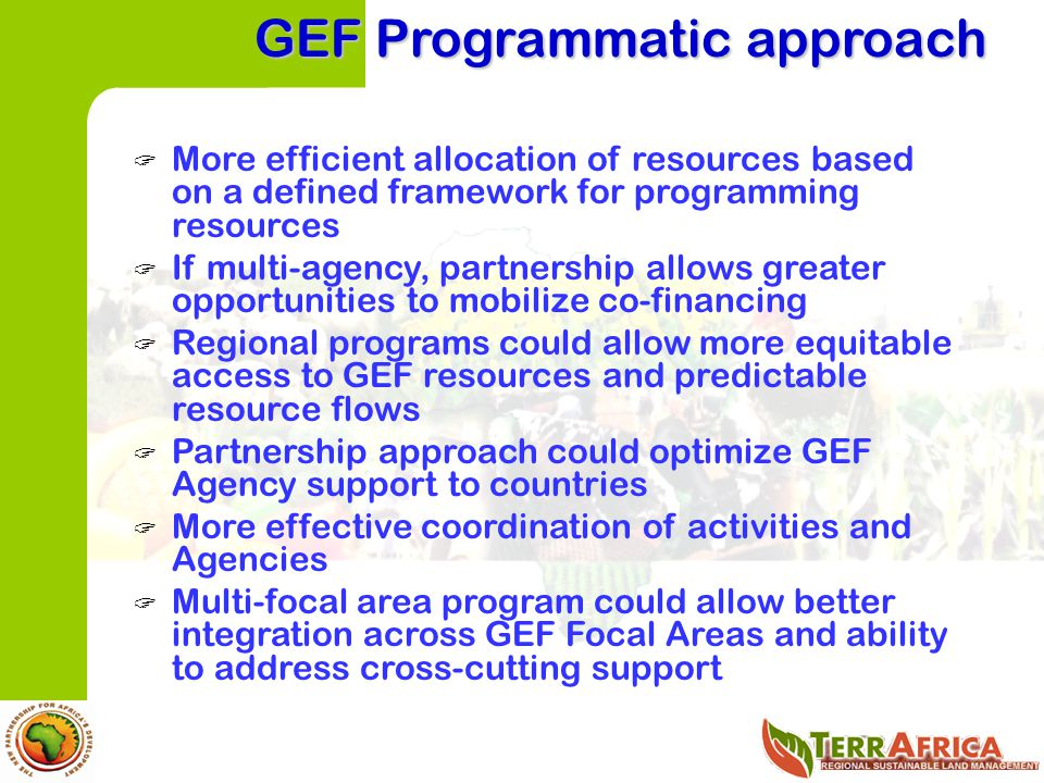 GEF Programmatic approach